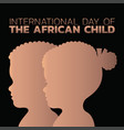 international day of the african child vector image