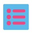Items flat pink and blue colors rounded button vector image vector image