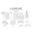 landscape vintage sketch vector image