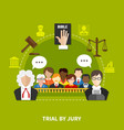 law flat composition vector image vector image