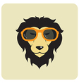 Lion glasses vector image
