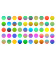 mega set vibrant colorful gradients vector image
