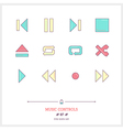 Music Controls Line Icons Set vector image vector image