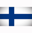 National flag of Finland vector image vector image