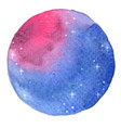 night sky with glitter star circle shape frame vector image vector image