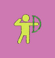 olympic games archery player athlete icon in vector image vector image