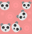 panda seamless pattern it is located in swatch vector image