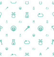 party icons pattern seamless white background vector image vector image