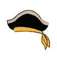 pirate hat captain costume style symbol vector image