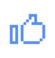 Pixel art icon thumb up sign symbol