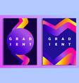 poster with liquid wave and colorful gradients vector image vector image
