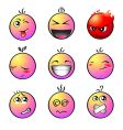 rainbow smileys vector image vector image