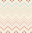 Retro seamless pattern Color hearts and dots on vector image