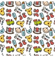 seamless pattern with baobjects newborn vector image vector image