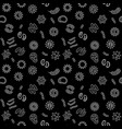 seamless pattern with virus bacterium vector image