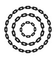 set black and white metal chain borders vector image vector image
