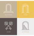 set of logo design templates and emblems in trendy vector image vector image