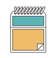 silhouette color sections of notepad with spiral vector image vector image