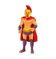 spartan warrior vector image vector image