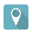 Square map marker icon vector image vector image