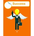 successful growth of business vector image