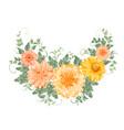 the chrysanthemum garland vector image vector image