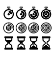 Timers icons set vector image vector image
