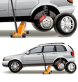 Tire repairs vector image