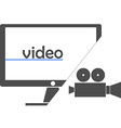 - video vector image vector image