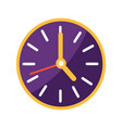 wall clock with big and small arrows on clockface vector image vector image