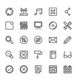 web and mobile ui line icons 11 vector image