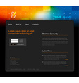 Website template with abstract header art vector image