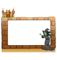 Witch Border Frame vector image vector image