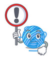with sign wool ball in a shape cartoon vector image vector image