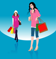 Woman Shopping1 vector image vector image