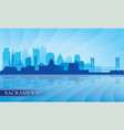 sacramento city skyline silhouette background vector image