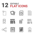 12 file icons vector image vector image