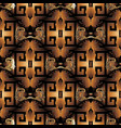 3d baroque seamless pattern vector image vector image
