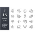 5g line icons set black vector image vector image