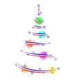 abstract american christmas fir ribbon balls vector image