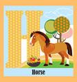 animal alphabet h vector image