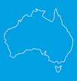 australia icon outline style vector image vector image