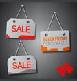 black friday signs set vector image vector image