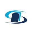 book care logo design template vector image vector image