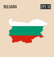 bulgaria map border with flag eps10 vector image vector image