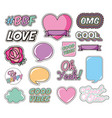bundle love and messages pop art style vector image vector image