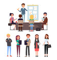 business conference seminar with workers and boss vector image vector image
