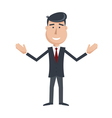 businessman hands up vector image