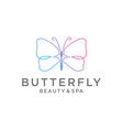 butterfly logo design line vector image vector image