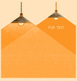 ceiling lamps lighting background retro vector image vector image